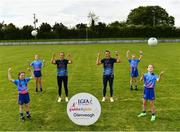 31 May 2021; Glenveagh Homes are the new sponsors of the LGFA's Gaelic4Girls programme. To find out more about Glenveagh Homes, visit https://glenveagh.ie/ . In attendance to mark the announcement at Summerhill GFC in County Meath are, from left, Abby Gannon, Alex Dalton, Armagh footballer Aimee Mackin, Roscommon footballer Jennifer Higgins, Isabelle Foley and Ella McDermott.  Photo by Harry Murphy/Sportsfile