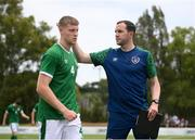 30 May 2021; Republic of Ireland assistant manager John O'Shea and Mark McGuinness during the U21 international friendly match between Switzerland and Republic of Ireland at Dama de Noche Football Centre in Marbella, Spain. Photo by Stephen McCarthy/Sportsfile