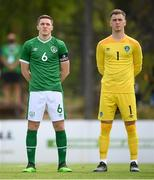 30 May 2021; Conor Coventry, left, and Brian Maher of Republic of Ireland before the U21 international friendly match between Switzerland and Republic of Ireland at Dama de Noche Football Centre in Marbella, Spain. Photo by Stephen McCarthy/Sportsfile