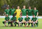 30 May 2021; The Republic of Ireland team, back row, from left, Lewis Richards, Joshua Kayode, Brian Maher, Mark McGuinness, Oisin McEntee and Conor Coventry, with, front row, Tyreik Wright, Festy Ebosele, Louie Watson, Ryan Johansson and Conor Grant before the U21 international friendly match between Switzerland and Republic of Ireland at Dama de Noche Football Centre in Marbella, Spain. Photo by Stephen McCarthy/Sportsfile