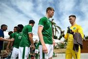 30 May 2021; Republic of Ireland goalkeeper Brian Maher and Mark McGuinness before the U21 international friendly match between Switzerland and Republic of Ireland at Dama de Noche Football Centre in Marbella, Spain. Photo by Stephen McCarthy/Sportsfile