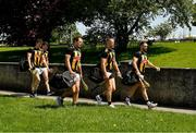30 May 2021; Kilkenny players led by Conor Fogarty, right, Conor Browne, Pádraig Walsh, TJ Reid, and Huw Lawlor, left, make their way along O'Loughlin Road to the Allianz Hurling League Division 1 Group B Round 3 match between Kilkenny and Wexford at UPMC Nowlan Park in Kilkenny. Photo by Ray McManus/Sportsfile