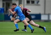 28 May 2021; Josh O'Connor of Leinster A in action against Jamie Osborne of Ireland U20 during the match between Ireland U20 and Leinster A at Energia Park in Dublin. Photo by Ramsey Cardy/Sportsfile