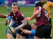 28 May 2021; Alan Flannery of Ireland U20 is tackled by David Hawkshaw of Leinster A during the match between Ireland U20 and Leinster A at Energia Park in Dublin. Photo by Ramsey Cardy/Sportsfile