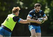 31 May 2021; Robbie Henshaw, right, and James Tracy during Leinster Rugby squad training at UCD in Dublin. Photo by Ramsey Cardy/Sportsfile