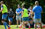 31 May 2021; Head coach Leo Cullen during Leinster Rugby squad training at UCD in Dublin. Photo by Ramsey Cardy/Sportsfile