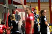 29 May 2021; Wexford Youths manager Tom Elmes during the SSE Airtricity Women's National League match between Shelbourne and Wexford Youths at Tolka Park in Dublin. Photo by Piaras Ó Mídheach/Sportsfile