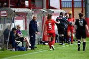 29 May 2021; Shelbourne manager Noel King during the SSE Airtricity Women's National League match between Shelbourne and Wexford Youths at Tolka Park in Dublin. Photo by Piaras Ó Mídheach/Sportsfile