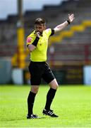 29 May 2021; Referee Mark Moynihan during the SSE Airtricity Women's National League match between Shelbourne and Wexford Youths at Tolka Park in Dublin. Photo by Piaras Ó Mídheach/Sportsfile