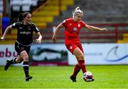 29 May 2021; Saoirse Noonan of Shelbourne gets past Edel Kennedy of Wexford Youths during the SSE Airtricity Women's National League match between Shelbourne and Wexford Youths at Tolka Park in Dublin. Photo by Piaras Ó Mídheach/Sportsfile