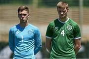 2 June 2021; Brian Maher and Mark McGuinness of Republic of Ireland prior to the U21 International friendly match between Australia and Republic of Ireland at Marbella Football Centre in Marbella, Spain. Photo by Mateo Villalba Sanchez/Sportsfile