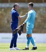2 June 2021; Republic of Ireland head coach Jim Crawford and Brian Maher after the U21 International friendly match between Australia and Republic of Ireland at Marbella Football Centre in Marbella, Spain. Photo by Mateo Villalba Sanchez/Sportsfile