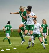 2 June 2021; Stephanie Roche, left, and Áine O'Gorman during a Republic of Ireland home-based training session at FAI Headquarters in Abbotstown, Dublin. Photo by David Fitzgerald/Sportsfile