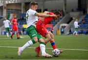3 June 2021; James Collins of Republic of Ireland in action against Joan Cervós of Andorra during the International friendly match between Andorra and Republic of Ireland at Estadi Nacional in Andorra. Photo by Stephen McCarthy/Sportsfile