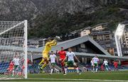 3 June 2021; Republic of Ireland goalkeeper Gavin Bazunu catches a cross during the International friendly match between Andorra and Republic of Ireland at Estadi Nacional in Andorra. Photo by Stephen McCarthy/Sportsfile