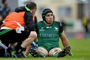4 June 2021; Ultane Dillane of Connacht receives medical attention for an injury during the Guinness PRO14 Rainbow Cup match between Connacht and Ospreys at The Sportsground in Galway. Photo by Piaras Ó Mídheach/Sportsfile