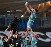 4 June 2021; James Ryan of Leinster wins possession in a lineout ahead of Ryan Wilson of Glasgow Warriors and contest a line out during the Guinness PRO14 Rainbow Cup match between Glasgow Warriors and Leinster at Scotstoun Stadium in Glasgow, Scotland. Photo by Ross MacDonald/Sportsfile