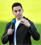 29 May 2021; Eir sport analyst, and former Armagh footballer, Aaron Kernan before the Allianz Football League Division 1 North Round 3 match between Armagh and Donegal at the Athletic Grounds in Armagh. Photo by Piaras Ó Mídheach/Sportsfile