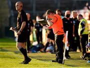 29 May 2021; Armagh manager Kieran McGeeney reacts in the closing moments of the Allianz Football League Division 1 North Round 3 match between Armagh and Donegal at the Athletic Grounds in Armagh. Photo by Piaras Ó Mídheach/Sportsfile