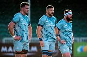 4 June 2021; James Ryan, Josh Murphy and Michael Bent of Leinster in action during the Guinness PRO14 Rainbow Cup match between Glasgow Warriors and Leinster at Scotstoun Stadium in Glasgow, Scotland. Photo by Ross MacDonald/Sportsfile