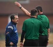 5 June 2021; Wexford manager Davy Fitzgerald is sent off by referee Patrick Murphy during the Allianz Hurling League Division 1 Group B Round 4 match between Antrim and Wexford at Corrigan Park in Belfast. Photo by David Fitzgerald/Sportsfile
