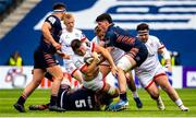 5 June 2021; Alan O'Connor of Ulster is tackled by Marshall Sykes of Edinburgh during the Guinness PRO14 Rainbow Cup match between Edinburgh and Ulster at BT Murrayfield Stadium in Edinburgh, Scotland. Photo by Paul Devlin/Sportsfile