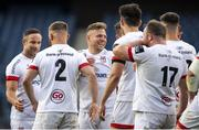 5 June 2021; Ian Madigan of Ulster celebrates his winning penalty with team-mates after the Guinness PRO14 Rainbow Cup match between Edinburgh and Ulster at BT Murrayfield Stadium in Edinburgh, Scotland. Photo by Paul Devlin/Sportsfile