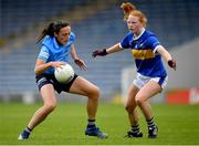 5 June 2021; Hannah Tyrrell of Dublin in action against Emma Cronin of Tipperary during the Lidl Ladies Football National League Division 1B Round 3 match between Tipperary and Dublin at Semple Stadium in Thurles, Tipperary. Photo by Seb Daly/Sportsfile