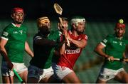 5 June 2021; Shane Kingston of Cork is tackled by Tom Morrissey and Colin Coughlan of Limerick, left, during the Allianz Hurling League Division 1 Group A Round 4 match between Limerick and Cork at LIT Gaelic Grounds in Limerick. Photo by Ray McManus/Sportsfile