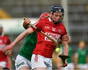 5 June 2021; Jack O'Connor of Cork is tackled by Barry Nash of Limerick during the Allianz Hurling League Division 1 Group A Round 4 match between Limerick and Cork at LIT Gaelic Grounds in Limerick. Photo by Ray McManus/Sportsfile