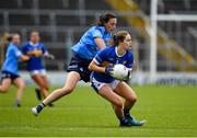 5 June 2021; Maria Curley of Tipperary in action against Hannah Tyrrell of Dublin during the Lidl Ladies Football National League Division 1B Round 3 match between Tipperary and Dublin at Semple Stadium in Thurles, Tipperary. Photo by Seb Daly/Sportsfile