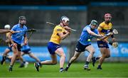 5 June 2021; Diarmuid Ryan of Clare in action against James Madden of Dublin during the Allianz Hurling League Division 1 Group B Round 4 match between Dublin and Clare at Parnell Park in Dublin. Photo by Piaras Ó Mídheach/Sportsfile