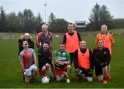 10 June 2021; Back row, from left, Seamus McMahon, Ciaran McMahon, Seamus Sweeney, Paulinus Curran and front row, from left, Neil McManus, Declan Moane, Darren McGovern, Eamonn Brogan and Colm O'Reilly at the GAA for Dads & Lads Launch at St. Patricks GFC in Donagh, Fermanagh. Photo by David Fitzgerald/Sportsfile