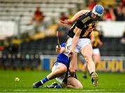 6 June 2021; Huw Lawlor of Kilkenny is tackled by Paddy Purcell of Laois during the Allianz Hurling League Division 1 Group B Round 4 match between Kilkenny and Laois at UPMC Nowlan Park in Kilkenny. Photo by Eóin Noonan/Sportsfile