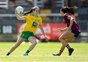 6 June 2021; Katy Herron of Donegal in action against Charlotte Cooney of Galway during the Lidl Ladies Football National League match between Galway and Donegal at Tuam Stadium in Tuam, Galway. Photo by Piaras Ó Mídheach/Sportsfile