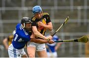 6 June 2021; John Donnelly of Kilkenny is tackled by Lee Cleere of Laois during the Allianz Hurling League Division 1 Group B Round 4 match between Kilkenny and Laois at UPMC Nowlan Park in Kilkenny. Photo by Eóin Noonan/Sportsfile