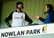 6 June 2021; Kilkenny manager Brian Cody speaking to RTÉ's Marty Morrissey after the Allianz Hurling League Division 1 Group B Round 4 match between Kilkenny and Laois at UPMC Nowlan Park in Kilkenny. Photo by Eóin Noonan/Sportsfile