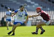 6 June 2021; Jamie Barron of Waterford in action against Conor Whelan of Galway during the Allianz Hurling League Division 1 Group A Round 4 match between Galway and Waterford at Pearse Stadium in Galway. Photo by Ramsey Cardy/Sportsfile