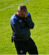 6 June 2021; Waterford manager Liam Cahill reacts during the Allianz Hurling League Division 1 Group A Round 4 match between Galway and Waterford at Pearse Stadium in Galway. Photo by Ramsey Cardy/Sportsfile