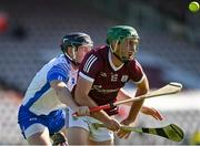 6 June 2021; Brian Concannon of Galway is tackled by Conor Gleeson of Waterford during the Allianz Hurling League Division 1 Group A Round 4 match between Galway and Waterford at Pearse Stadium in Galway. Photo by Ramsey Cardy/Sportsfile