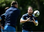 7 June 2021; Michael Bent receives a pass from Cian Healy during Leinster Rugby squad training at UCD in Dublin. Photo by David Fitzgerald/Sportsfile