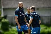 7 June 2021; Scott Fardy, left, and Luke McGrath during Leinster Rugby squad training at UCD in Dublin. Photo by David Fitzgerald/Sportsfile