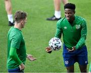 7 June 2021; Chiedozie Ogbene during a Republic of Ireland training session at Szusza Ferenc Stadion in Budapest, Hungary. Photo by Alex Nicodim/Sportsfile
