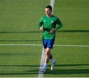7 June 2021; Lee O'Connor during a Republic of Ireland training session at Szusza Ferenc Stadion in Budapest, Hungary. Photo by Alex Nicodim/Sportsfile