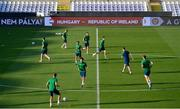 7 June 2021; Players during a Republic of Ireland training session at Szusza Ferenc Stadion in Budapest, Hungary. Photo by Alex Nicodim/Sportsfile