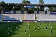 7 June 2021; A general view during a Republic of Ireland training session at Szusza Ferenc Stadion in Budapest, Hungary. Photo by Alex Nicodim/Sportsfile