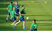 7 June 2021; Shane Duffy during a Republic of Ireland training session at Szusza Ferenc Stadion in Budapest, Hungary. Photo by Alex Nicodim/Sportsfile