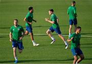 7 June 2021; Dara O'Shea during a Republic of Ireland training session at Szusza Ferenc Stadion in Budapest, Hungary. Photo by Alex Nicodim/Sportsfile