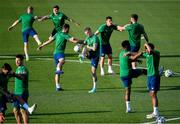 7 June 2021; Players, including James McClean, centre, during a Republic of Ireland training session at Szusza Ferenc Stadion in Budapest, Hungary. Photo by Alex Nicodim/Sportsfile