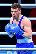 7 June 2021; Emmet Brennan of Ireland during his heavyweight 81kg Box Off for Olympic Place bout against Liridon Nuha of Sweden on day four of the Road to Tokyo European Boxing Olympic qualifying event at Le Grand Dome in Paris, France. Photo by Baptiste Fernandez/Sportsfile